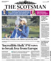 The Scotsman (UK) Newspaper Front Page for 16 September 2019