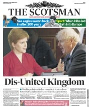 The Scotsman front page for 16 September 2020