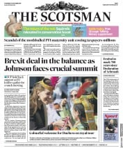 The Scotsman (UK) Newspaper Front Page for 17 October 2019