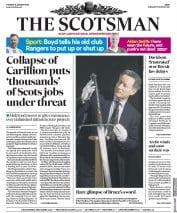 The Scotsman (UK) Newspaper Front Page for 17 January 2018