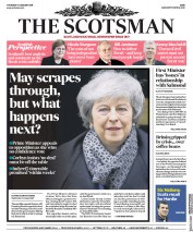 The Scotsman (UK) Newspaper Front Page for 17 January 2019