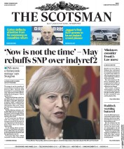 The Scotsman (UK) Newspaper Front Page for 17 March 2017