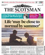 The Scotsman front page for 17 March 2021