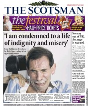 The Scotsman Newspaper Front Page (UK) for 17 August 2012