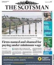 The Scotsman (UK) Newspaper Front Page for 17 August 2017