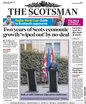 The Scotsman (UK) Newspaper Front Page for 17 September 2019