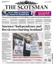 The Scotsman front page for 17 September 2020