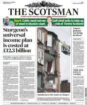 The Scotsman (UK) Newspaper Front Page for 18 October 2017