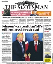 The Scotsman (UK) Newspaper Front Page for 18 October 2019