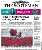 The Scotsman front page for 18 November 2020