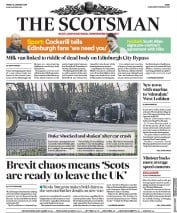 The Scotsman (UK) Newspaper Front Page for 18 January 2019