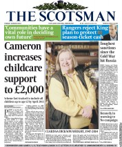 The Scotsman (UK) Newspaper Front Page for 18 March 2014