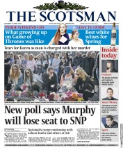The Scotsman (UK) Newspaper Front Page for 18 April 2015