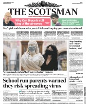 The Scotsman (UK) Newspaper Front Page for 18 August 2020