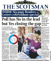 The Scotsman (UK) Newspaper Front Page for 18 September 2014