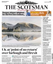 The Scotsman front page for 19 October 2020