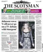 The Scotsman (UK) Newspaper Front Page for 19 November 2019