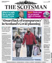 The Scotsman front page for 19 November 2020