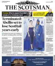The Scotsman (UK) Newspaper Front Page for 19 December 2019