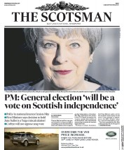 The Scotsman (UK) Newspaper Front Page for 19 April 2017
