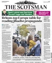 The Scotsman (UK) Newspaper Front Page for 19 September 2017