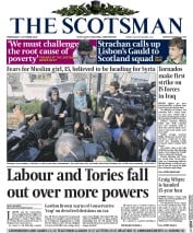 The Scotsman (UK) Newspaper Front Page for 1 October 2014