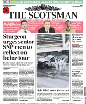 The Scotsman (UK) Newspaper Front Page for 1 November 2017