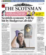 The Scotsman () Newspaper Front Page for 1 November 2018
