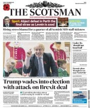 The Scotsman (UK) Newspaper Front Page for 1 November 2019