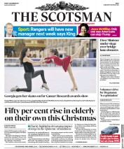 The Scotsman (UK) Newspaper Front Page for 1 December 2017
