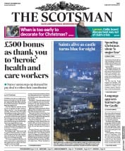 The Scotsman front page for 1 December 2020