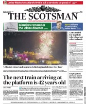 The Scotsman (UK) Newspaper Front Page for 1 January 2018