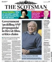 The Scotsman front page for 1 January 2021