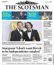 The Scotsman (UK) Newspaper Front Page for 1 March 2016