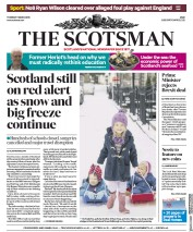 The Scotsman (UK) Newspaper Front Page for 1 March 2018