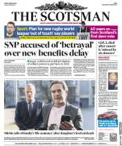 The Scotsman (UK) Newspaper Front Page for 1 March 2019