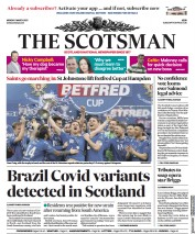 The Scotsman (UK) Newspaper Front Page for 1 March 2021