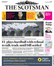 The Scotsman (UK) Newspaper Front Page for 1 April 2017