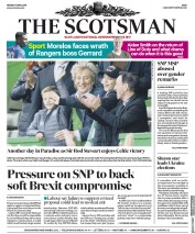 The Scotsman (UK) Newspaper Front Page for 1 April 2019