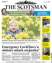 The Scotsman (UK) Newspaper Front Page for 1 April 2020