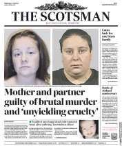 The Scotsman (UK) Newspaper Front Page for 1 June 2016