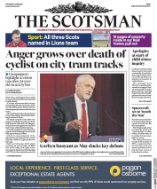 The Scotsman (UK) Newspaper Front Page for 1 June 2017