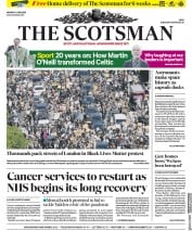 The Scotsman (UK) Newspaper Front Page for 1 June 2020