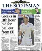 The Scotsman (UK) Newspaper Front Page for 1 July 2015