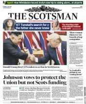 The Scotsman () Newspaper Front Page for 1 July 2019