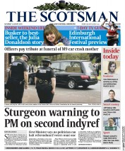 The Scotsman (UK) Newspaper Front Page for 1 August 2015