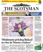 The Scotsman (UK) Newspaper Front Page for 1 August 2019