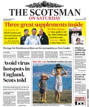 The Scotsman (UK) Newspaper Front Page for 1 August 2020