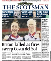 The Scotsman Newspaper Front Page (UK) for 1 September 2012
