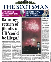 The Scotsman (UK) Newspaper Front Page for 1 September 2014
